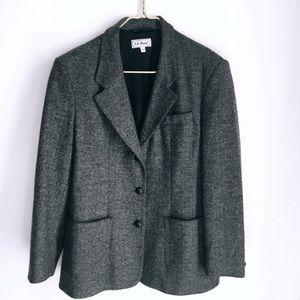 LL BEAN VTG Herringbone Blazer Size 12